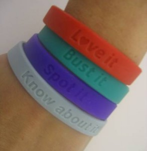 Charity Awareness Wristbands Only £2 each
