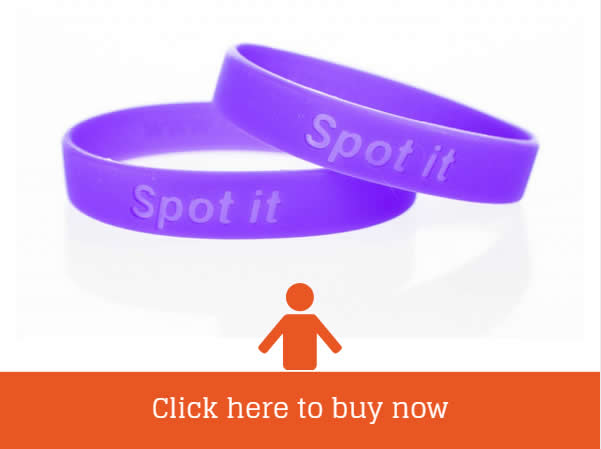 Buy Purple Spot it Meningitis Research Foundation Wristbands Only £2