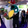 Mr Angry Bird at The London Toy Fair
