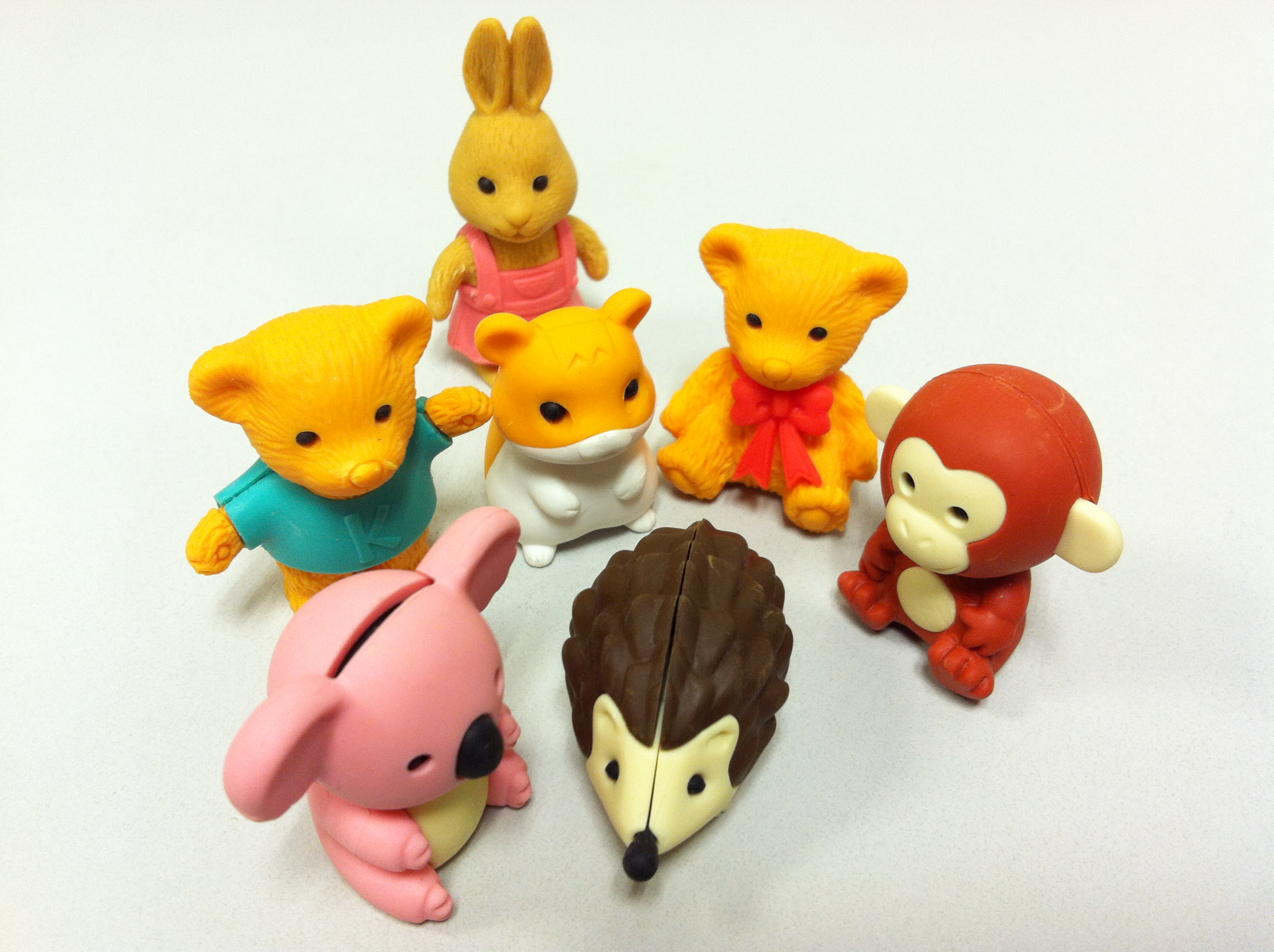Ty Beanie Animal Shaped Erasers