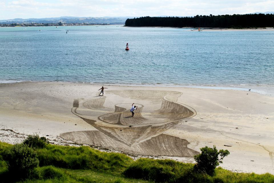 3D Sand Art Scatepark
