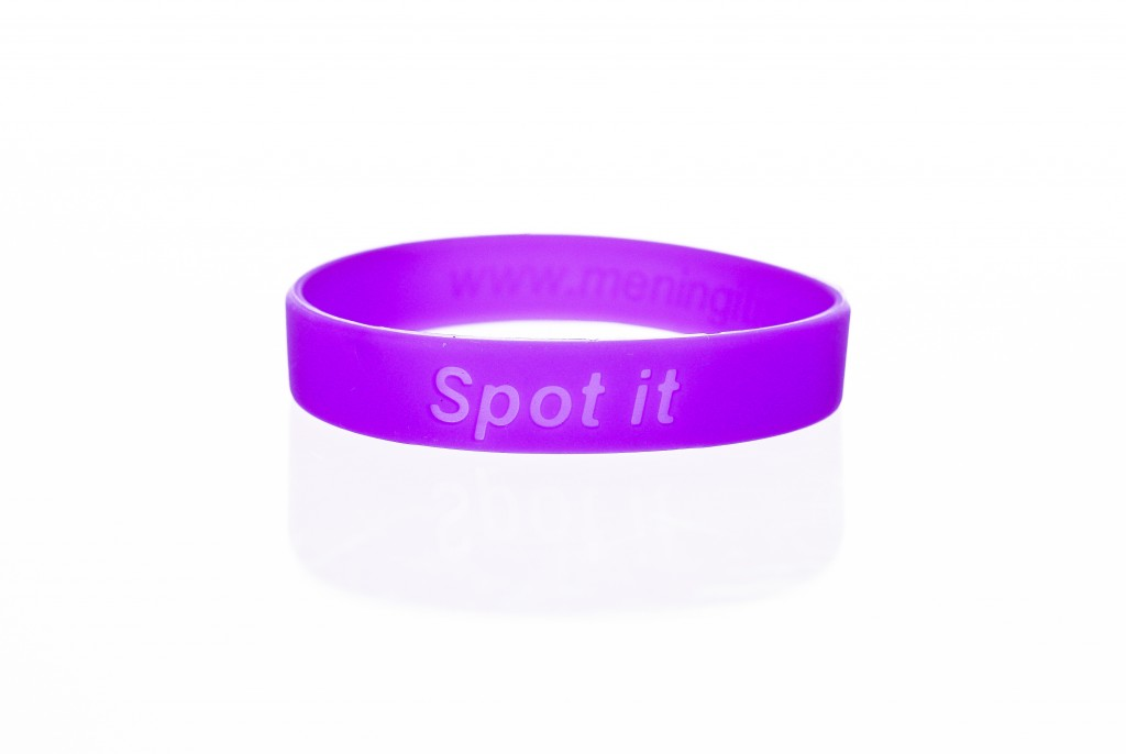 Click to Buy Purple Charity Awareness Wristbands for Meningitis Research Foundation