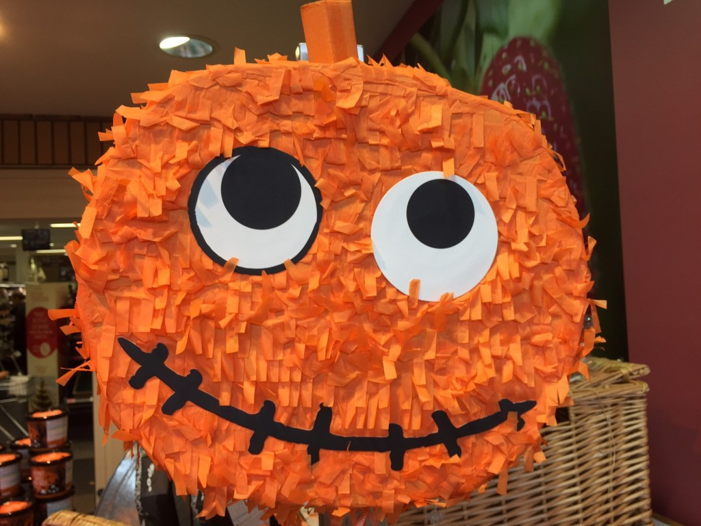 Orange Pumpkin Pinata for Halloween