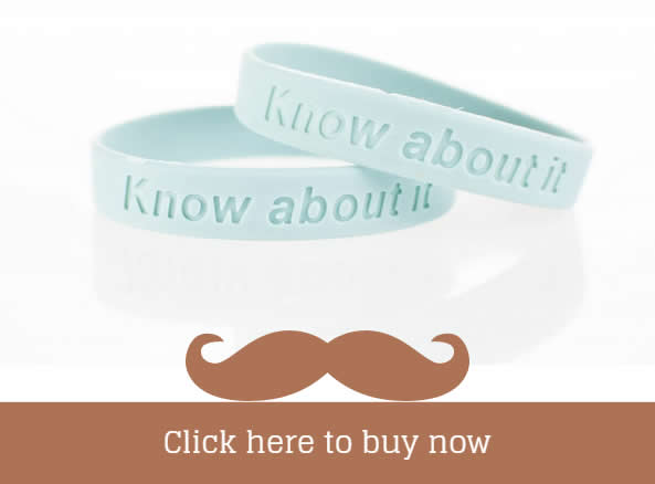 Click Here to Buy Know About it - Prostate Cancer Wristbands