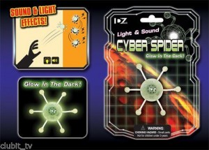 Glow in the Dark Cyber Spider Toy