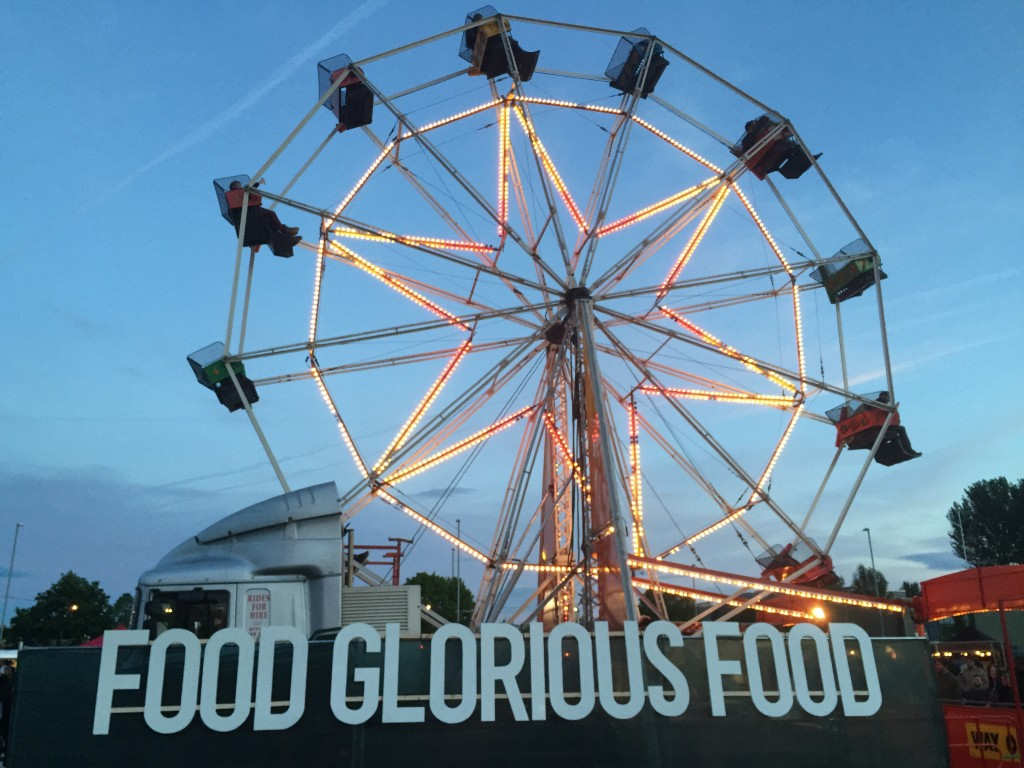 Food Glorious Food and Retro Style Ferris Wheel