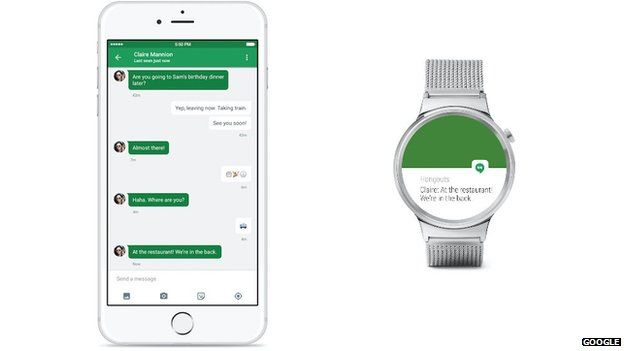 iOS & Android wear photo, Google