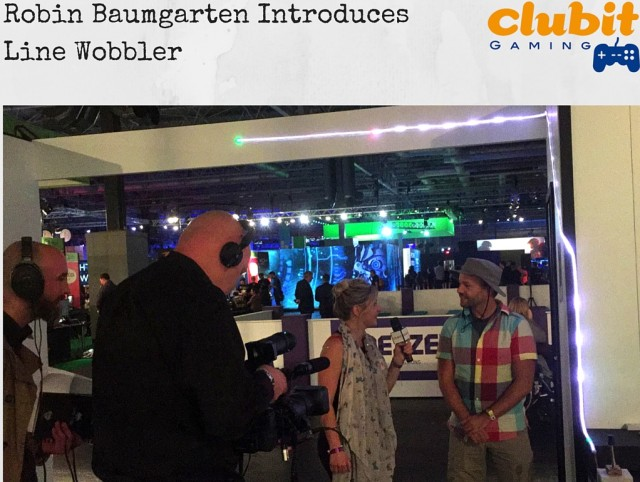 Robin Baumgarten introduces Clubit Gaming to Line Wobbler