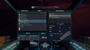 Sublevel Zero crafting screen