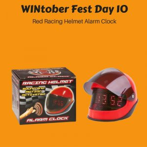 WINtober Fest Day 10 - Red Racing Helmet Alarm Clock