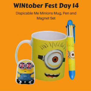 WINtober Fest Day 14 - Dispicable Me Minions Mug, Pen and Magnet Set