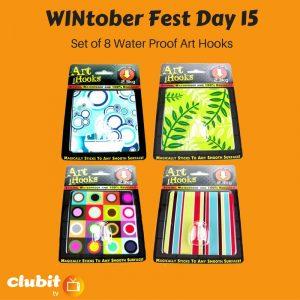 WINtober Fest Day 15 - Set of 8 Water Proof Art Hooks