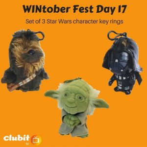 WINtober Fest Day 17 - Set of 3 Star Wars character key rings