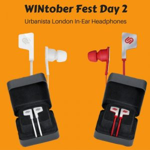 WINtober Fest Day 2 urbanista london in ear headphones
