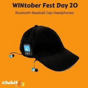 WINtober Fest Day 20 - Bluetooth Baseball Cap Headphones