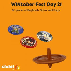 WINtober Fest Day 21 - 50 packs of Beyblade Spins and Pogs