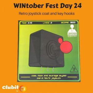 WINtober Fest Day 24 - Retro joystick coat and key hooks