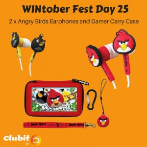WINtober Fest Day 25 - 2 x Angry Birds Earphones and Gamer Carry Case