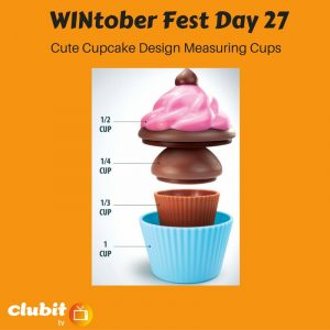 WINtober Fest Day 27 - Cute Cupcake Design Measuring Cups