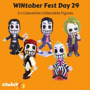 WINtober Fest Day 29 - 2 x Calaveritas Collectable Figures