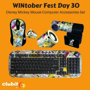WINtober Fest Day 30 - Disney Mickey Mouse Computer Accessories Set