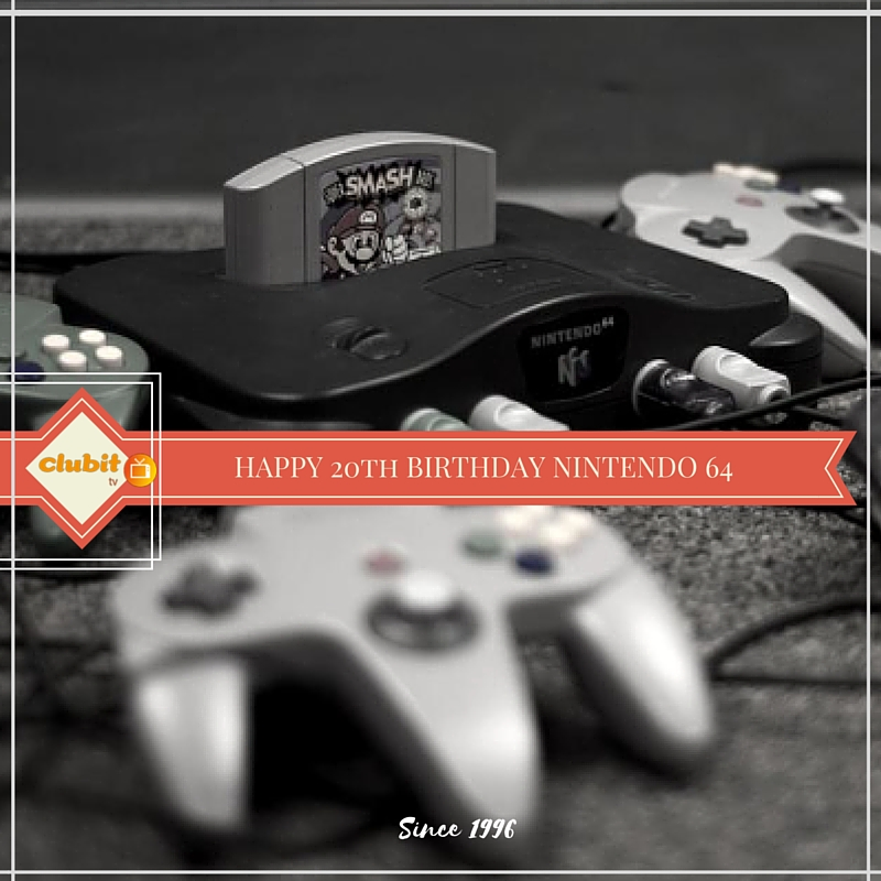 Happy 20th Birthday to the N64