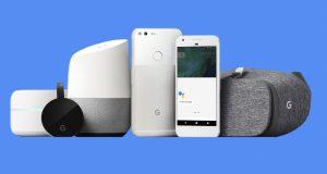 Google Home, Pixel, Chromecast Ultra, VR
