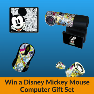 Win a Disney Mickey Mouse Computer Gift Set